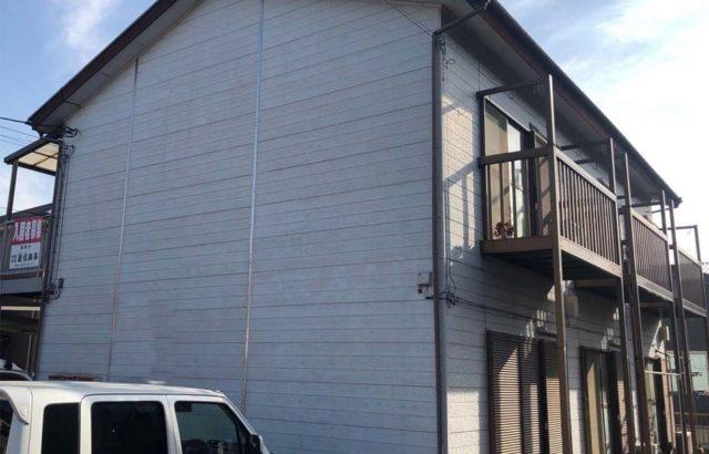 群馬県桐生市 アパート外壁塗装 ナノコンポジットW
