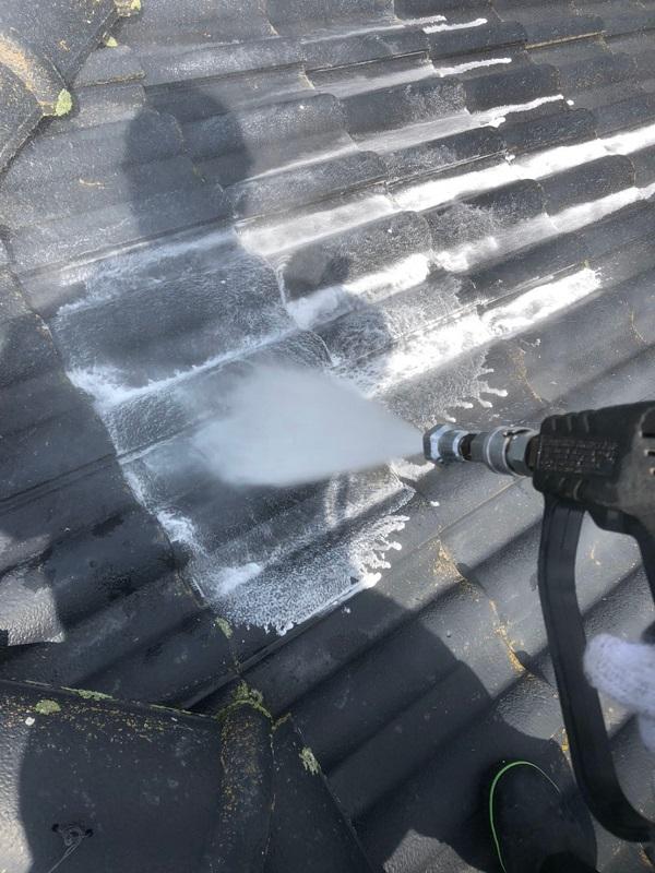 群馬県太田市 屋根外壁付帯部塗装工事 雨どい交換 下地処理 高圧洗浄 (4)