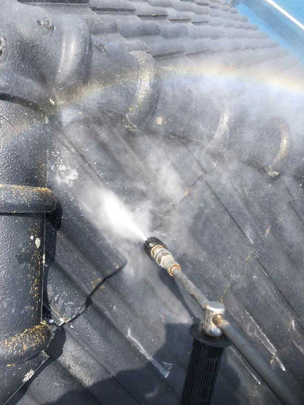 群馬県太田市 屋根外壁付帯部塗装工事 雨どい交換 下地処理 高圧洗浄 (3)