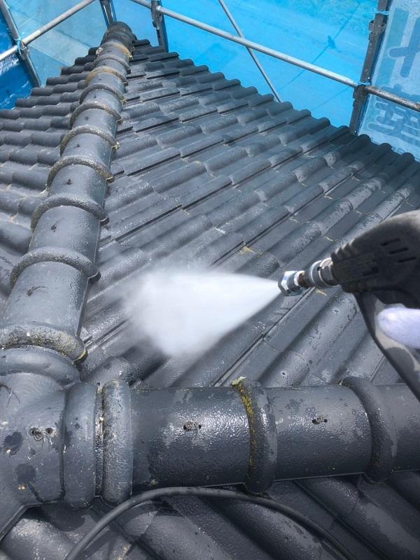 群馬県太田市 屋根外壁付帯部塗装工事 雨どい交換 下地処理 高圧洗浄 (5)