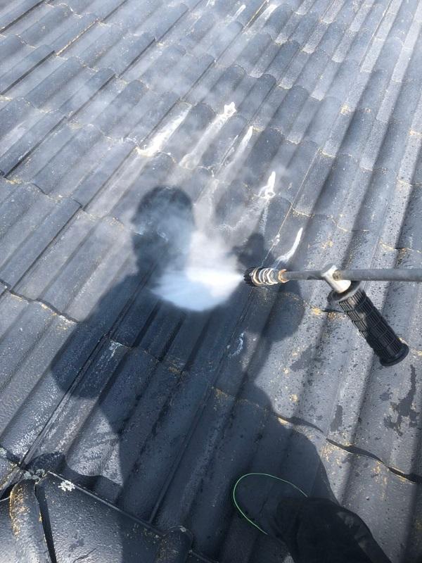 群馬県太田市 屋根外壁付帯部塗装工事 雨どい交換 下地処理 高圧洗浄 (2)