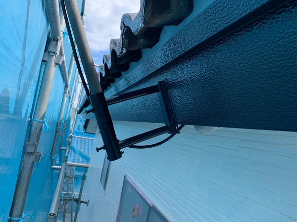 群馬県太田市 屋根・外壁・付帯部塗装工事 雨どい交換 水切り、鼻隠しの塗装 (3)