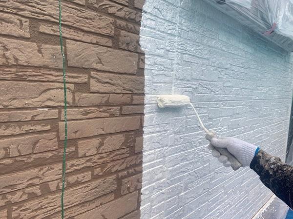 群馬県前橋市 I様邸 外装リフォーム工事 中塗り、上塗りと重ね塗りをする理由 (3)