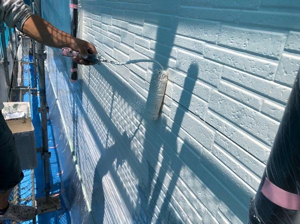 群馬県太田市 Y様邸 屋根・外壁・付帯部塗装工事 外壁中塗り (2)