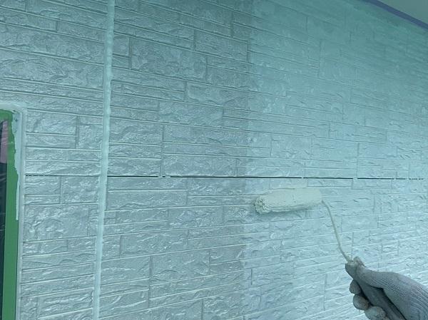 群馬県前橋市 I様邸 外装リフォーム工事 上塗り ガイソーウォール無機F (1)