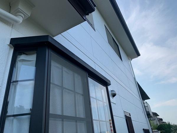 群馬県前橋市 K様邸 外装リフォーム工事 完工 足場解体 安心の定期訪問サポート (2)