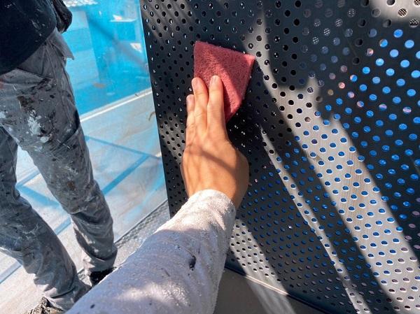 群馬県前橋市 Y様邸 外壁塗装・付帯部塗装 ベランダ目隠しフェンス塗装 ケレン作業の重要性 (3)