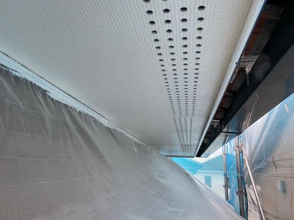 群馬県前橋市 Y様邸 外壁塗装・付帯部塗装 軒天塗装 ケイカル板 ガイソージョンキングNAD (2)