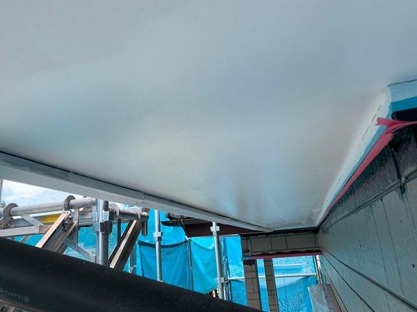 群馬県北群馬郡吉岡町 K様邸 外壁塗装 付帯部塗装 軒天塗装 軒天の役割 塗装の手順 (5)
