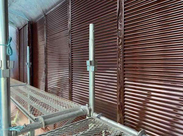 群馬県北群馬郡吉岡町 K様邸 外壁塗装 付帯部塗装 雨戸 吹き付け塗装 (4)
