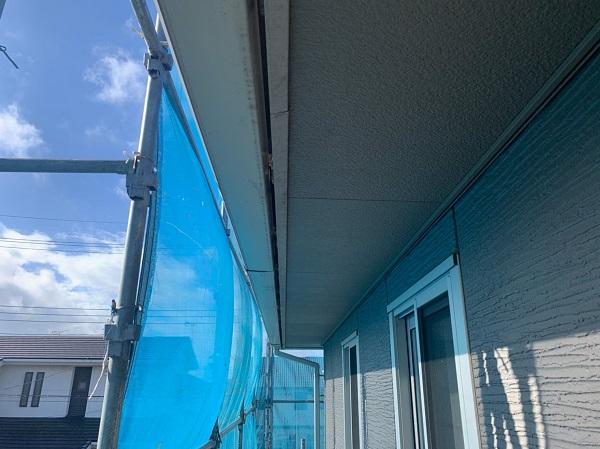 群馬県前橋市 O様邸 外壁塗装・付帯部塗装 足場の種類 飛散防止ネット(メッシュシート) (3)