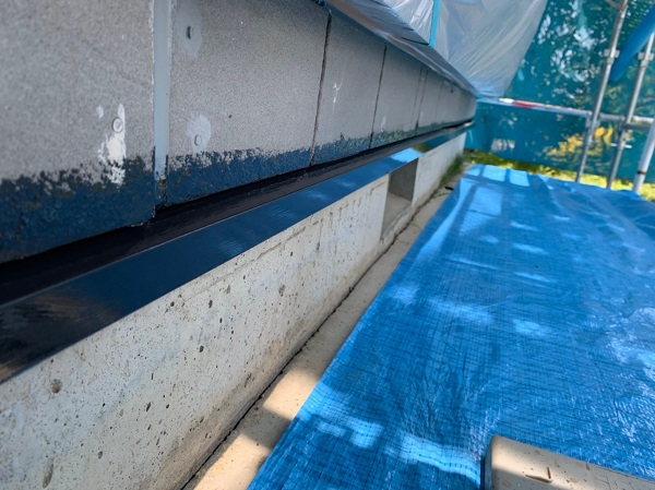 群馬県北群馬郡吉岡町 K様邸 外壁塗装 付帯部塗装 水切り塗装 工程 (1)