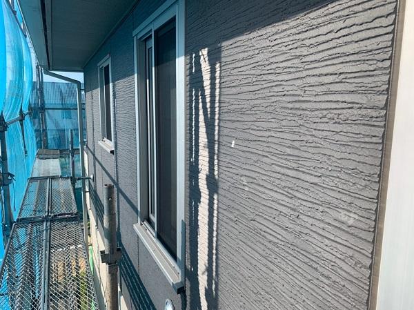 群馬県前橋市 O様邸 外壁塗装・付帯部塗装 足場の種類 飛散防止ネット(メッシュシート) (2)