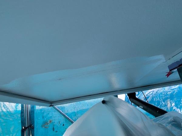 群馬県北群馬郡吉岡町 K様邸 外壁塗装 付帯部塗装 軒天塗装 軒天の役割 塗装の手順 (2)
