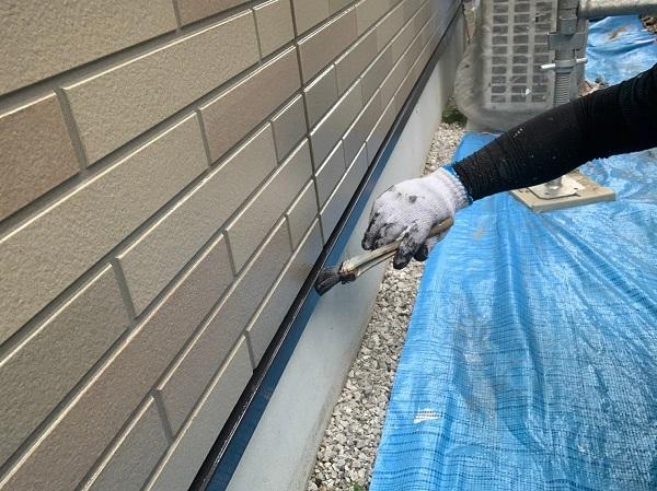 群馬県前橋市 Y様邸 外壁塗装・付帯部塗装 水切り塗装 水切りの劣化 (3)