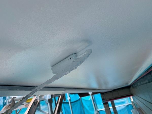 群馬県北群馬郡吉岡町 K様邸 外壁塗装 付帯部塗装 軒天塗装 軒天の役割 塗装の手順 (6)