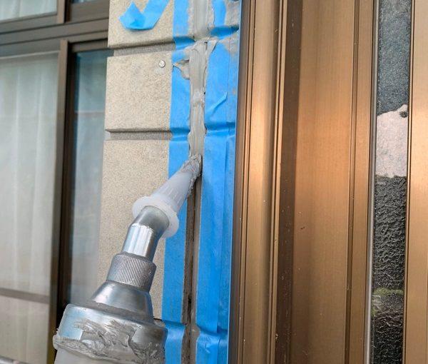 群馬県北群馬郡吉岡町 K様邸 外壁塗装 付帯部塗装 シーリング工事③ 工程 オートンイクシード (2)