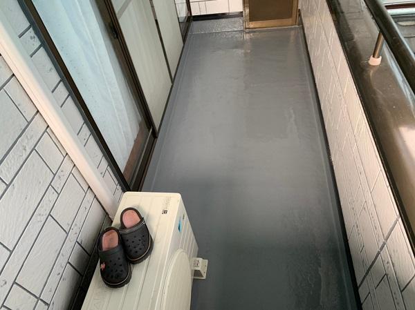 群馬県北群馬郡吉岡町 K様邸 外壁塗装 付帯部塗装 ベランダ防水工事 ウレタン防水 密着工法 (6)
