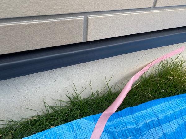 群馬県前橋市 Y様邸 外壁塗装・付帯部塗装 水切り塗装 水切りの劣化 (1)
