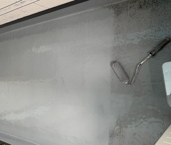 群馬県北群馬郡吉岡町 K様邸 外壁塗装 付帯部塗装 ベランダ防水工事 ウレタン防水 密着工法 (3)