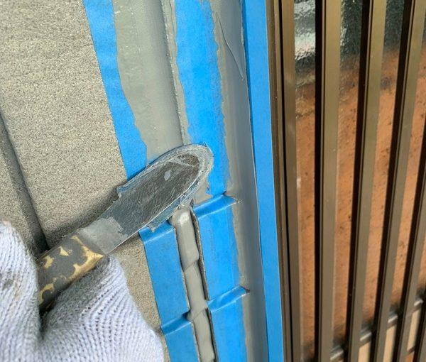群馬県北群馬郡吉岡町 K様邸 外壁塗装 付帯部塗装 シーリング工事③ 工程 オートンイクシード (3)