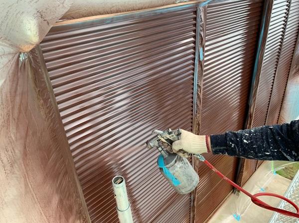 群馬県北群馬郡吉岡町 K様邸 外壁塗装 付帯部塗装 雨戸 吹き付け塗装 (3)