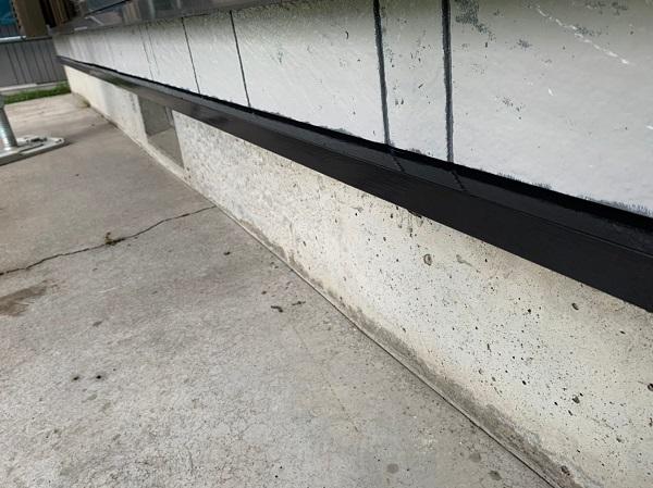 群馬県北群馬郡吉岡町 K様邸 外壁塗装 付帯部塗装 水切り塗装 工程 (3)