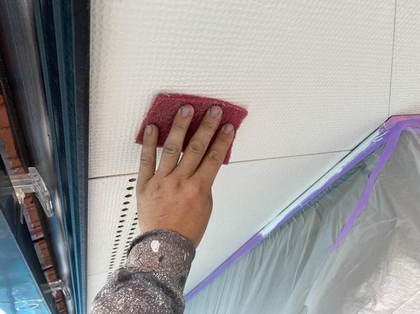 群馬県前橋市 Y様邸 外壁塗装・付帯部塗装 軒天塗装 ケイカル板 ガイソージョンキングNAD (4)