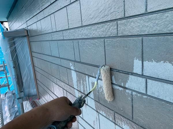 群馬県北群馬郡吉岡町 K様邸 外壁塗装 付帯部塗装 下塗り エスケー化研 クリーンマイルドシリコン