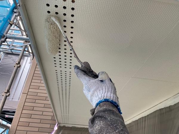 群馬県前橋市 Y様邸 外壁塗装・付帯部塗装 軒天塗装 ケイカル板 ガイソージョンキングNAD (1)
