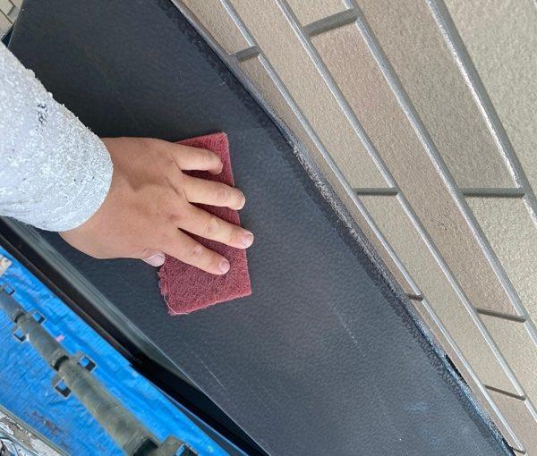 群馬県前橋市 Y様邸 外壁塗装・付帯部塗装 窓枠サッシ塗装 目荒らしとは (6)