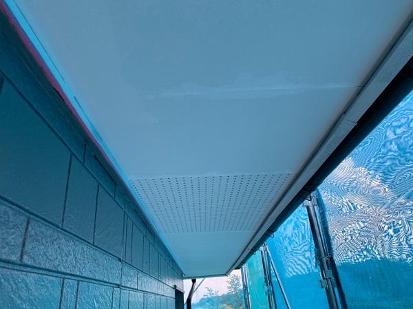 群馬県北群馬郡吉岡町 K様邸 外壁塗装 付帯部塗装 軒天塗装 軒天の役割 塗装の手順 (3)