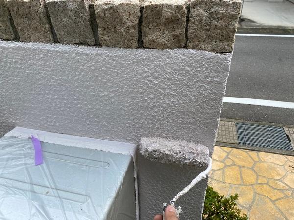 群馬県前橋市 O様邸 外壁塗装・付帯部塗装 エスケー化研クリーンマイルドシリコン 塀塗装 完工 (4)