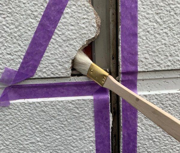 群馬県前橋市 ㈱P様貸店舗 外壁塗装・屋根塗装 シーリング(コーキング)工事 クラック補修 (3)