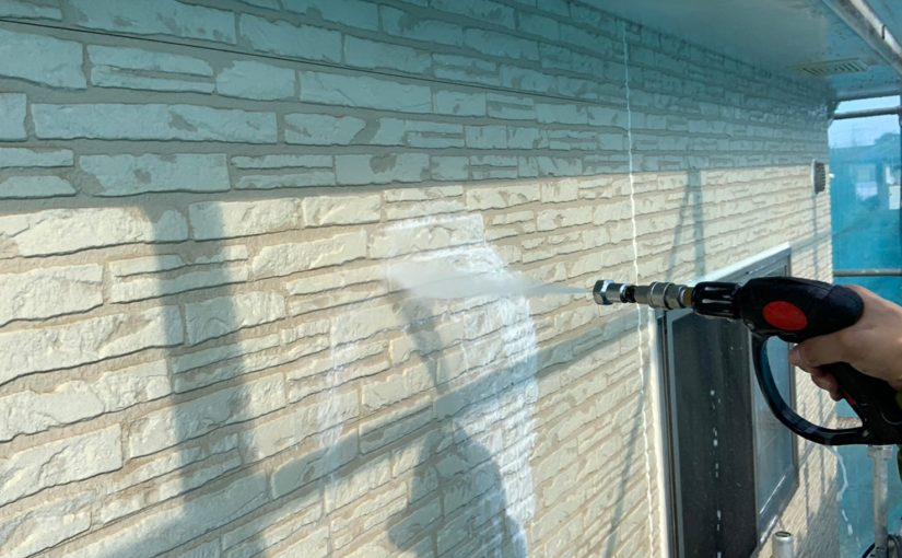 群馬県佐波郡玉村町 K様邸 外壁塗装 バイオ高圧洗浄 ガイソーパワークリーナー (4)