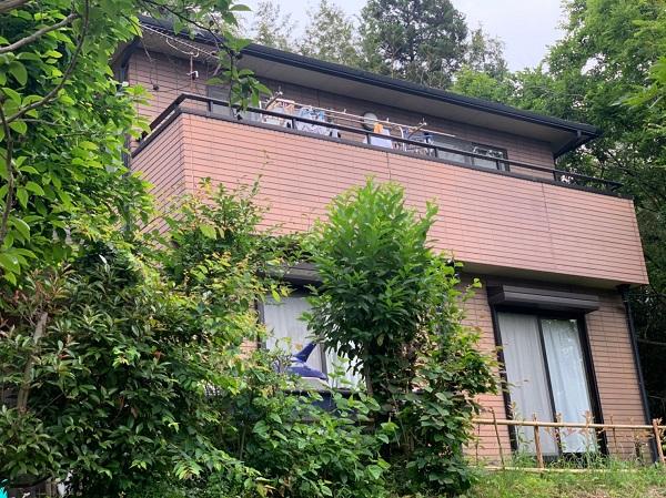 群馬県前橋市 S様邸 屋根塗装・外壁塗装 施工前の状態(外壁) チョーキング現象 シーリング廻りのクラック (1)