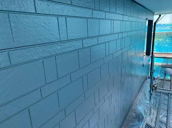 群馬県北群馬郡吉岡町 K様邸 外壁塗装 付帯部塗装 中塗り・上塗り エスケー化研 クリーンマイルドシリコン (2)