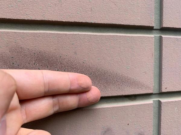 群馬県前橋市 S様邸 屋根塗装・外壁塗装 施工前の状態(外壁) チョーキング現象 シーリング廻りのクラック (4)