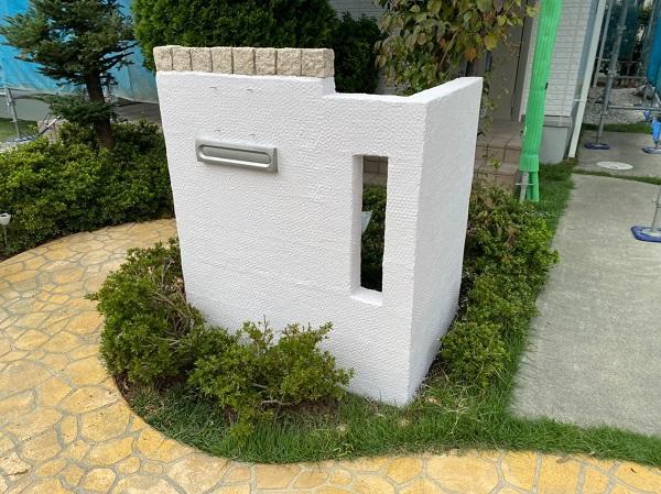 群馬県前橋市 O様邸 外壁塗装・付帯部塗装 エスケー化研クリーンマイルドシリコン 塀塗装 完工 (5)