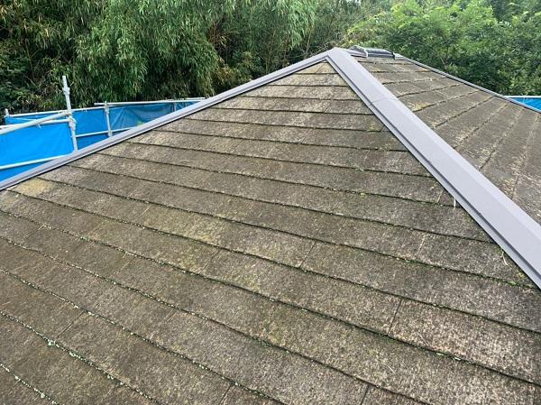 群馬県前橋市 S様邸 屋根塗装・外壁塗装 施工前の状態(屋根) 化粧スレートの劣化症状 (3)
