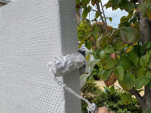 群馬県前橋市 O様邸 外壁塗装・付帯部塗装 エスケー化研クリーンマイルドシリコン 塀塗装 完工 (2)