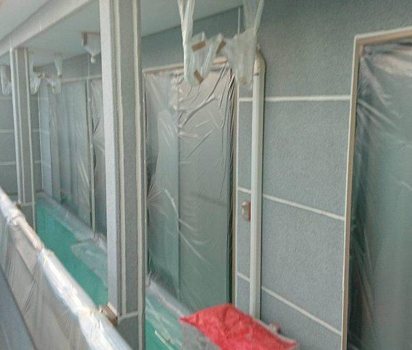 群馬県前橋市 K様邸 外壁塗装・付帯部塗装 高圧洗浄 養生を行い理由 (5)
