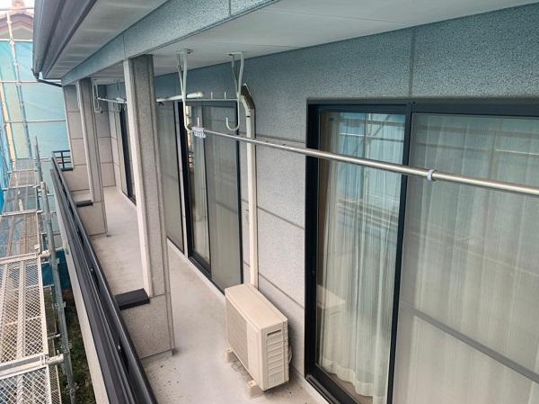 群馬県前橋市 K様邸 外壁塗装・付帯部塗装 施工前の外壁の状態 くさび(ビケ)足場設置 (5)