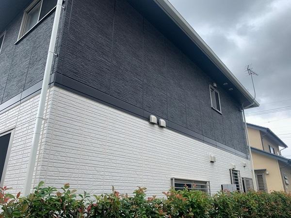 群馬県前橋市 O様邸 外壁塗装・付帯部塗装 エスケー化研クリーンマイルドシリコン 塀塗装 完工 (3)
