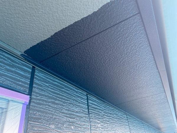 群馬県前橋市 O様邸 外壁塗装・付帯部塗装 軒天塗装 ケイカル板(ケイ酸カルシウム板)