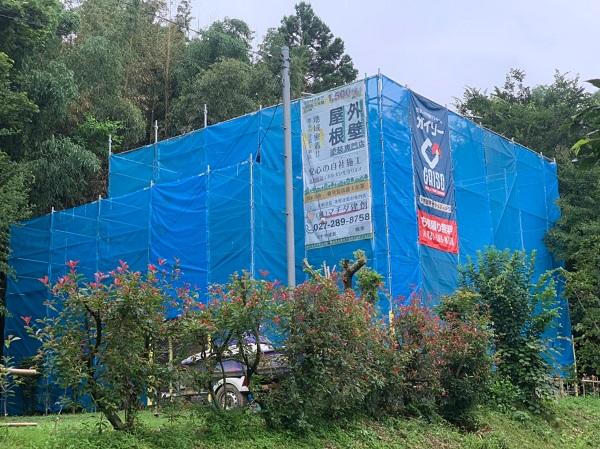 群馬県前橋市 S様邸 屋根塗装・外壁塗装 近隣の方々へのご挨拶 足場設置 飛散防止ネットとは (2)