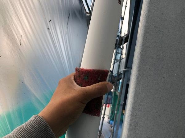 群馬県太田市 Sアパート 外壁塗装・屋根塗装 雨樋、柱、エアコンホースカバー塗装 (3)