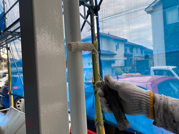 群馬県太田市 Sアパート 外壁塗装・屋根塗装 雨樋、柱、エアコンホースカバー塗装 (10)