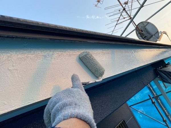 群馬県太田市 Sアパート 外壁塗装・屋根塗装 鼻隠し、破風板塗装 (3)