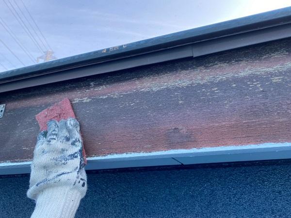 群馬県太田市 Sアパート 外壁塗装・屋根塗装 鼻隠し、破風板塗装 (6)